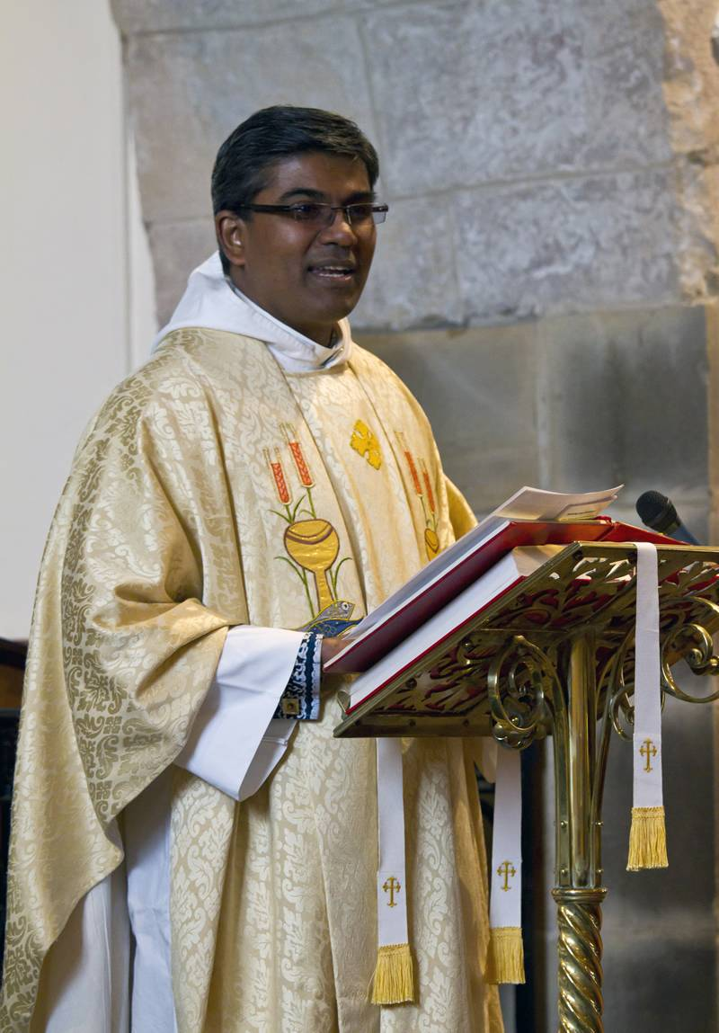 Our Curate until January 2019: The Revd Sudharshan Sarvananthan